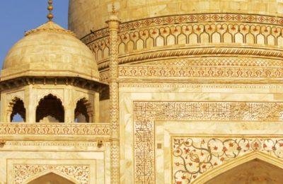 A close look at Taj Mahal, Agra, India