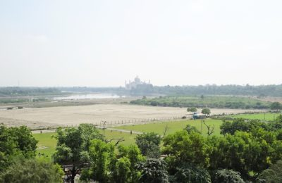 A view over Taj Mahal from Agra Fort, Agra, India